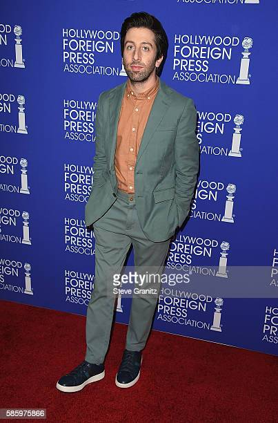 Actor Simon Helberg attends the Hollywood Foreign Press Association's Grants Banquet at the Beverly Wilshire Four Seasons Hotel on August 4 2016 in...