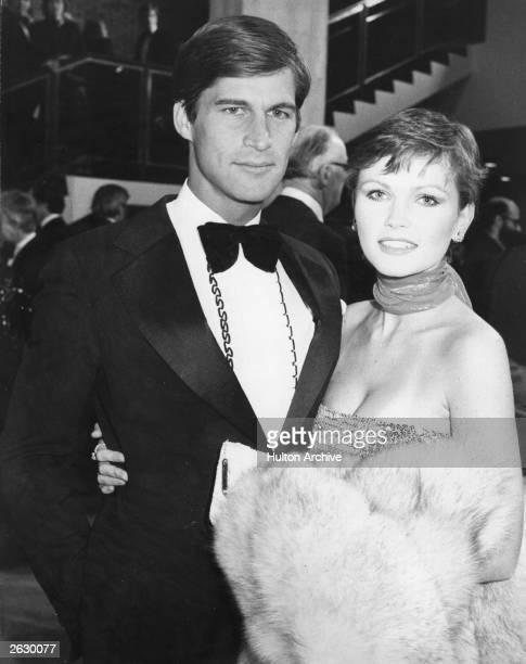 Actor Simon McCorkindale and his wife Fiona Fullerton at the British Academy of Film and TV Awards Original Publication People Disc HH0331