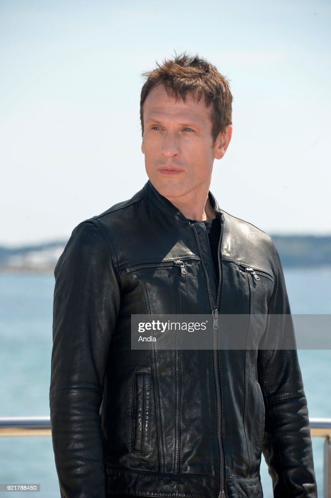 Actor Simon Merrells posing for a photocall on the occasion of the MipTV, International Television Programme Market, in Cannes (south-eastern France) on .