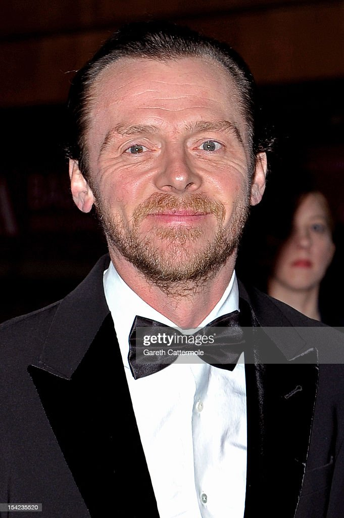 Actor Simon Pegg arrives at the launch dinner for the new Hollywood Costume exhibition at the V&A Museum on October 16, 2012 in London, England. The exhibition will open from October 20th at The V&A.