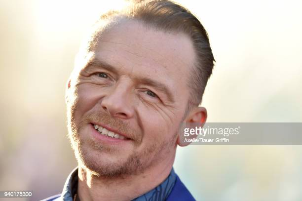 Actor Simon Pegg arrives at the Premiere of Warner Bros Pictures' 'Ready Player One' at Dolby Theatre on March 26 2018 in Hollywood California