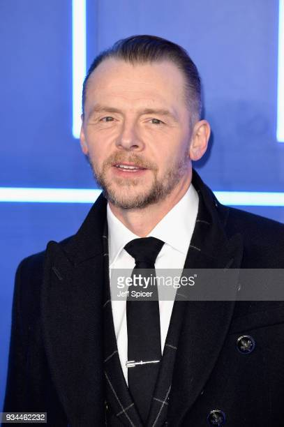 Actor Simon Pegg attends the European Premiere of 'Ready Player One' at Vue West End on March 19 2018 in London England