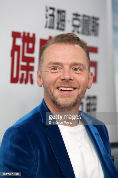 Actor Simon Pegg attends the 'Mission Impossible Fallout' China Press Junket at The Peninsula Hotel on August 29 2018 in Beijing