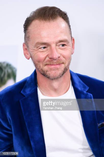Actor Simon Pegg attends the 'Mission Impossible Fallout' China Press Junket at The Peninsula Hotel on August 29 2018 in Beijing China