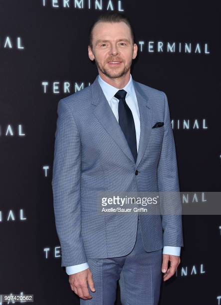 Actor Simon Pegg attends the premiere of RLJE Films' 'Terminal' at ArcLight Cinemas on May 8 2018 in Hollywood California