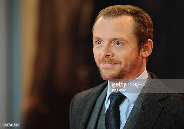 Actor Simon Pegg attends the UK premiere of 'Mission Impossible Ghost Protocol' at BFI IMAX on December 13 2011 in London England