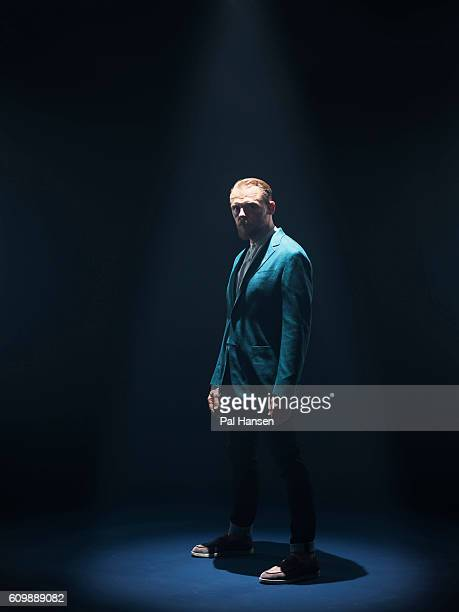 Actor Simon Pegg is photographed for the Observer on April 20 2016 in London England