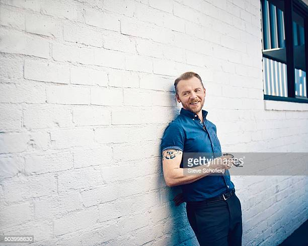 Actor Simon Pegg is photographed for the Sunday Times magazine on March 19 2015 in Los Angeles California