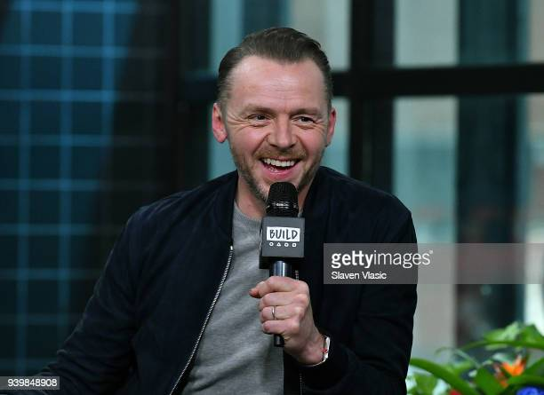 Actor Simon Pegg visits Build Series to discuss Steven Spielberg's science fiction film Ready Player One at Build Studio on March 29 2018 in New York...