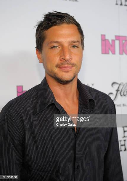 Actor Simon Rex arrives at In Touch Weekly's Icons and Idols Celebration held at Chateau Marmont on September 7 2008 in Hollywood California