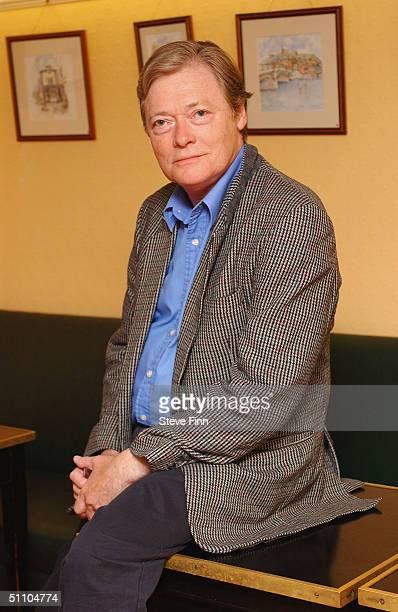 Actor Simon Ward poses for pictures following the second night of Rebecca Hughes' play 'Final Judgement' at the Theatre Royal Windsor on July 21 2004...