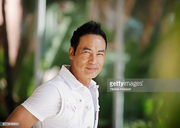 Actor Simon Yam poses for a portrait at the Hawaii International Film Festival 2016 at The Royal Hawaiian on November 12 2016 in Honolulu Hawaii