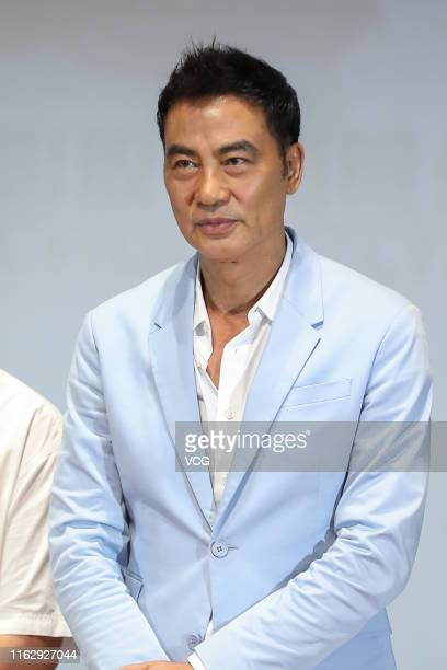 Actor Simon Yam Tatwah attends the premiere of film 'Little Q' on July 18 2019 in Beijing China