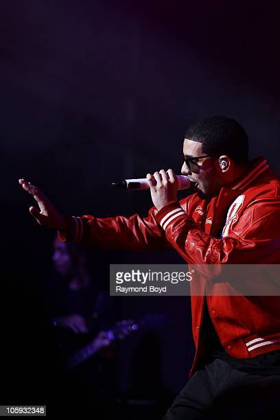 Actor singer and rapper Drake performs at the Chicago Theatre in Chicago Illinois on OCT 14 2010