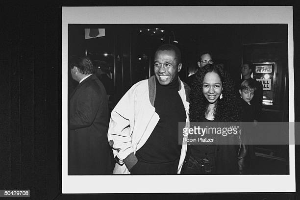 Actor singer Ben Vereen w daughter Karon at the premiere of the film Malcolm X