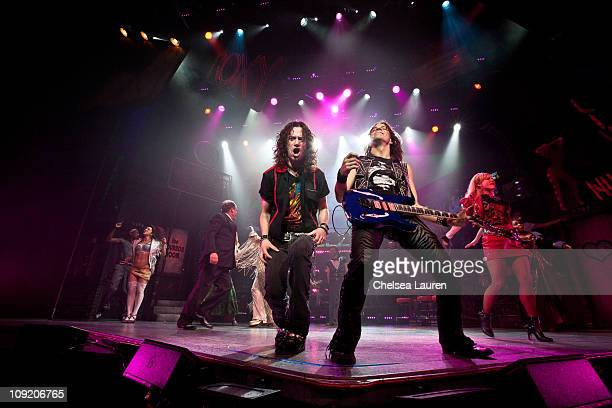 Actor / singer Constantine Maroulis with the national tour of Rock of Ages at the curtain call of Opening Night of Rock of Ages at the Pantages...