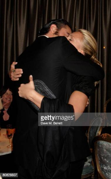 Actor singer Darius Danesh and actress Natasha Henstridge attend the afterparty following the press night of 'Gone With The Wind' at the Waldorf...