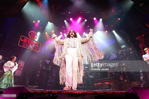 Actor / singer Nick Cordero with the national tour of Rock of Ages at the curtain call of Opening Night of Rock of Ages at the Pantages Theatre on...