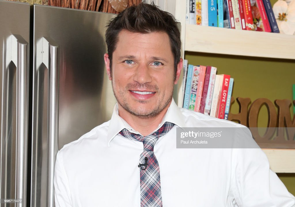 Actor / Singer Nick Lachey visit Hallmark's 'Home & Family' celebrating 'Christmas In July' at Universal Studios Hollywood on July 11, 2018 in Universal City, California.