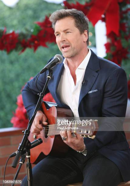 Actor / Singer Paul Greene visits Hallmark's 'Home Family' at Universal Studios Hollywood on December 17 2018 in Universal City California