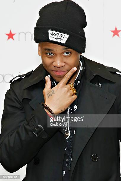 Actor/ singer Tristan 'Mack' Wilds visits Macy's Herald Square on April 5 2014 in New York City