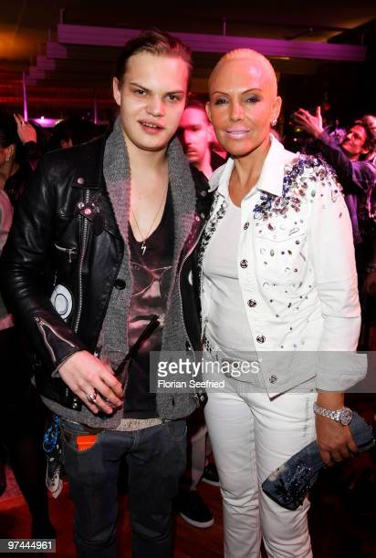 Actor singer Wilson Gonzales Ochsenknecht and mother Natascha Ochsenknecht attend the aftershowparty of the Echo Award 2010 at Messe Berlin on March...