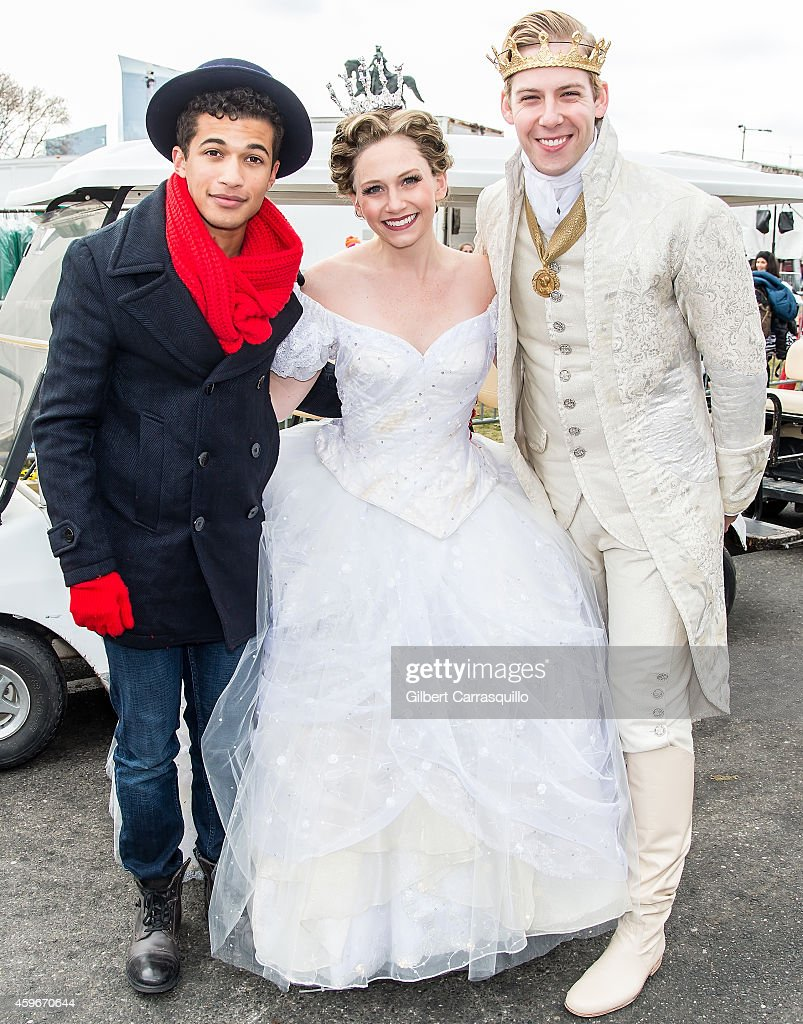 Actor/ Singer/Songwriter Jordan Fisher and Rogers And Hammerstein's CINDERELLA cast attend the 95th Annual 6abc Dunkin' Donuts Thanksgiving Day Parade on November 27, 2014 in Philadelphia, Pennsylvania.