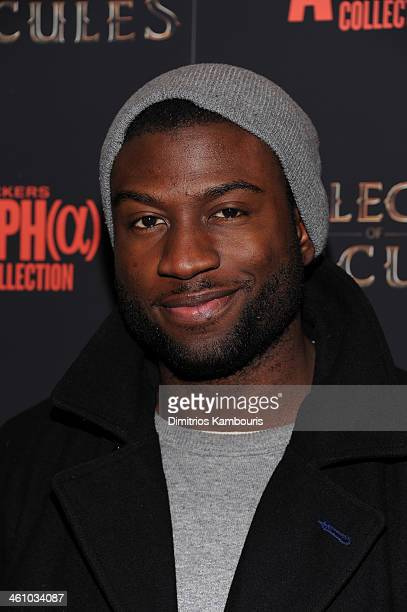 Actor Sinqua Walls attends the The Legend Of Hercules premiere at the Crosby Street Hotel on January 6 2014 in New York City
