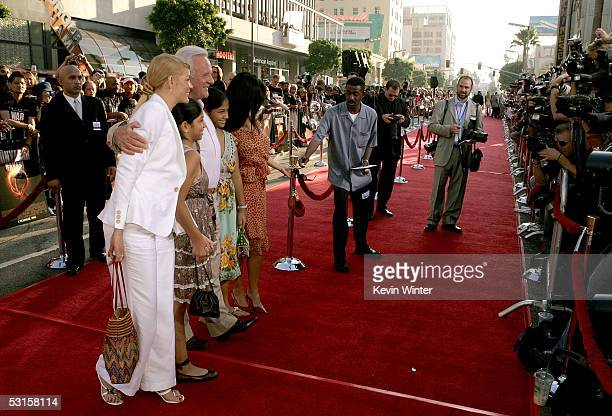 Actor Sir Anthony Hopkins and guests arrive on the red carpet at the Los Angeles Fan Screening of War of the Worlds at the Grauman's Chinese Theatre...