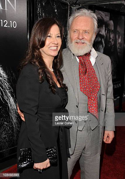 Actor Sir Anthony Hopkins and wife Stella Arroyave arrive at the The Wolfman Los Angeles Premiere held at ArcLight Hollywood Cinemas on February 9...
