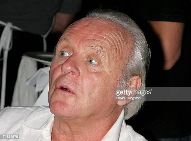 Actor Sir Anthony Hopkins attends the reception for a new song honoring the 35th anniversary of Greenpeace's founding at SIR on September 9 2006 in...