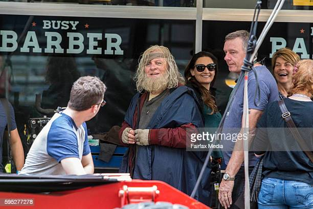 Actor Sir Anthony Hopkins is seen on the set of the film 'Thor Ragnarok' on August 23 2016 in Brisbane Australia
