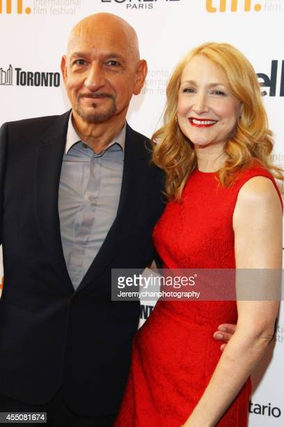 "Actor Sir Ben Kingsley and actor Patricia Clarkson arrive at the ""Learning To Drive"" Premiere during the 2014 Toronto International Film Festival..."