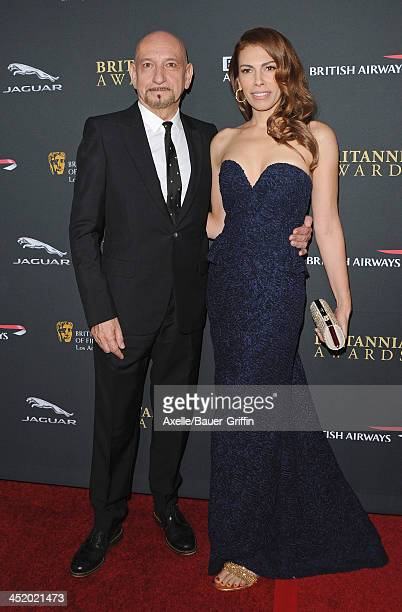 Actor Sir Ben Kingsley and actress Daniela Lavender attend the BAFTA Los Angeles Britannia Awards at The Beverly Hilton Hotel on November 9, 2013 in...