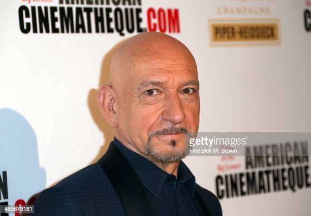 Actor Sir Ben Kingsley arrives at the 27th American Cinematheque Award honoring Jerry Bruckheimer at The Beverly Hilton Hotel on December 12 2013 in...