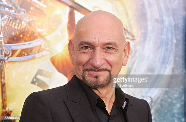 Actor Sir Ben Kingsley attends the 'Hugo' premiere at the Ziegfeld Theatre on November 21 2011 in New York City