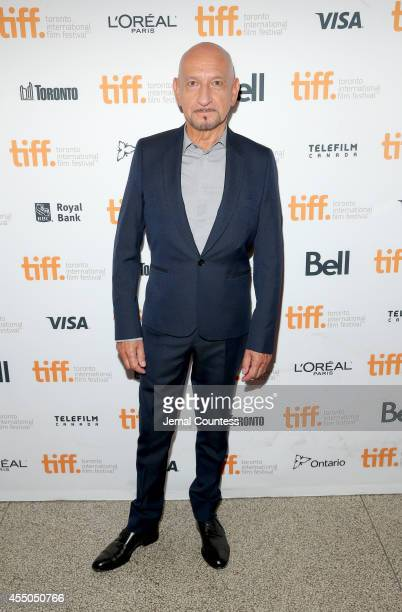 Actor Sir Ben Kingsley attends the 'Learning to Drive' premiere during the 2014 Toronto International Film Festival at The Elgin on September 9 2014...