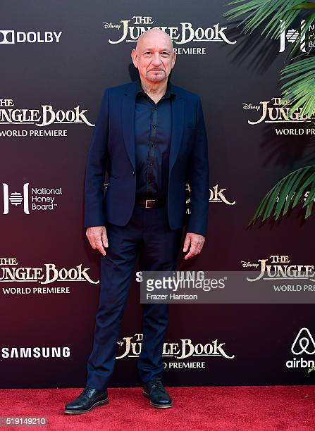 Actor Sir Ben Kingsley attends the premiere of Disney's 'The Jungle Book' at the El Capitan Theatre on April 4 2016 in Hollywood California