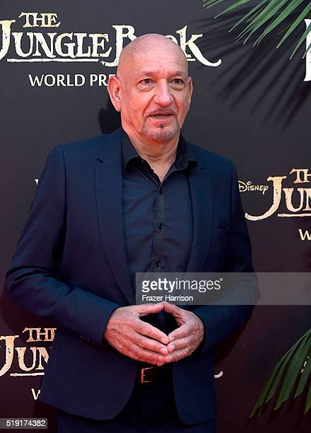 Actor Sir Ben Kingsley attends the premiere of Disney's The Jungle Book at the El Capitan Theatre on April 4 2016 in Hollywood California