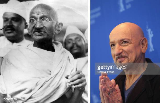 In this composite image a comparison has been made between Mahatma Gandhi and Actor Sir Ben Kingsley Oscar hype begins this week with the...