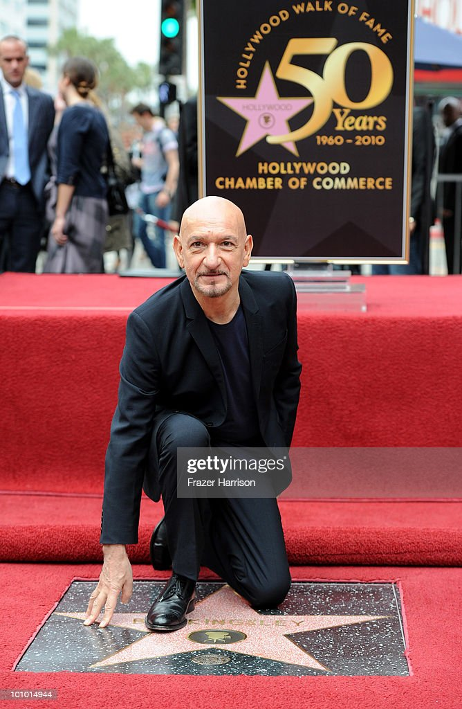 Sir Ben Kingsley Honored On The Hollywood Walk Of Fame