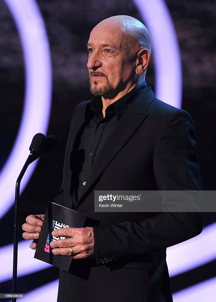 Actor Sir Ben Kingsley speaks onstage during the 17th Annual Critics' Choice Movie Awards held at The Hollywood Palladium on January 12, 2012 in Los Angeles, California.
