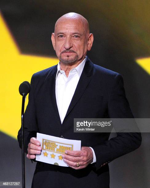 Actor Sir Ben Kingsley speaks onstage during the 19th Annual Critics' Choice Movie Awards at Barker Hangar on January 16 2014 in Santa Monica...