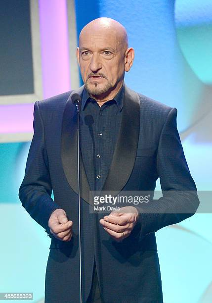 Actor Sir Ben Kingsley speaks onstage during the 27th American Cinematheque Award honoring Jerry Bruckheimer at The Beverly Hilton Hotel on December...
