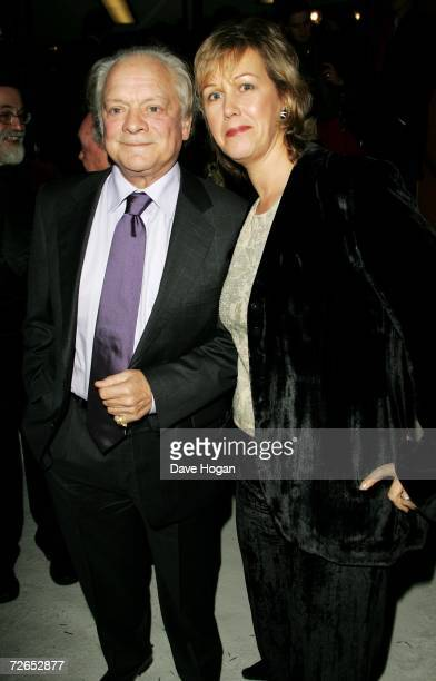 Actor Sir David Jason and his wife Gill Hinchcliffe arrive at the world television premiere of Hogfather at the Curzon Mayfair on November 27 2006 in...