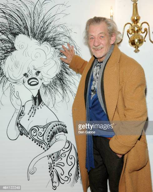 Actor Sir Ian McKellen attends Gentlemen Prefer Blondes An Intimate Evening with Carol Channing and Justin Vivian Bond at Town Hall on January 20...