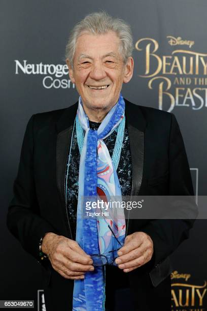 Actor Sir Ian McKellen attends the 'Beauty and the Beast' New York screening at Alice Tully Hall Lincoln Center on March 13 2017 in New York City