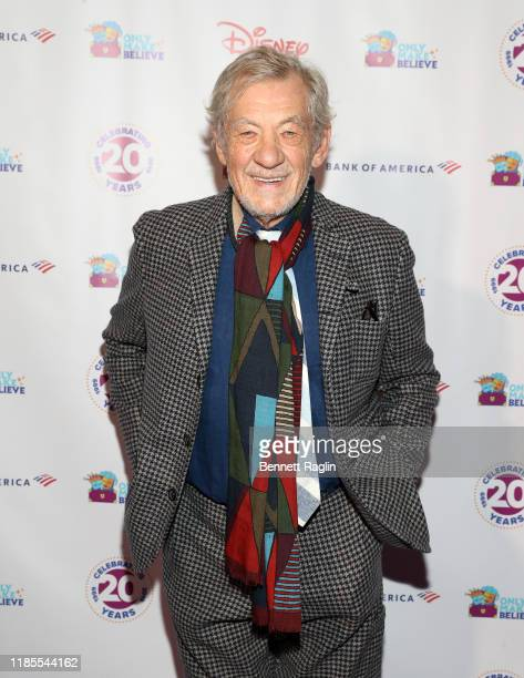 Actor Sir Ian McKellen attends the Only Make Believe 20th Anniversary Gala at Gerald Schoenfeld Theatre on November 04 2019 in New York City