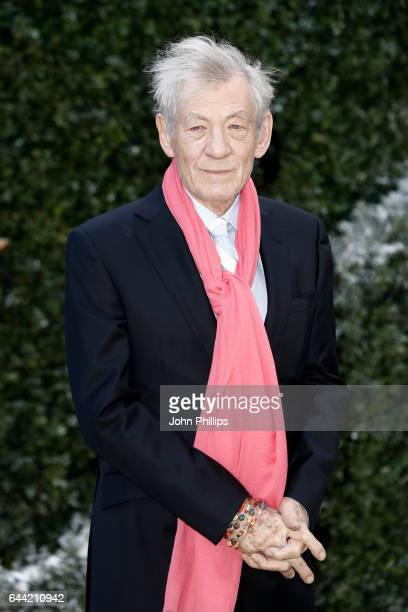Actor Sir Ian McKellen attends UK launch event for 'Beauty And The Beast' at Spencer House on February 23 2017 in London England