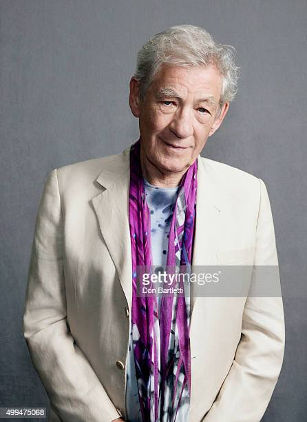 Actor Sir Ian McKellen is photographed for Los Angeles Times on October 9 2015 in Los Angeles California PUBLISHED IMAGE CREDIT MUST READ Don...